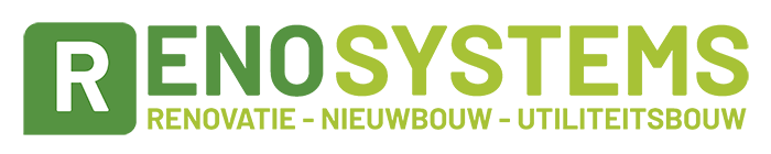 Reno Systems  voor asbestsanering, dakbekleding en  zonnepanelen.  Logo